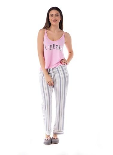 Pamuk & Pamuk Alaçatı Desen Kadın Pijama Takımı Renkli
